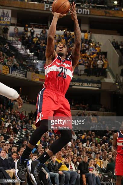 Cartier Martin of the Washington Wizards shoots against the Indiana Pacers on January 2 2013 at Bankers Life Fieldhouse in Indianapolis Indiana NOTE...