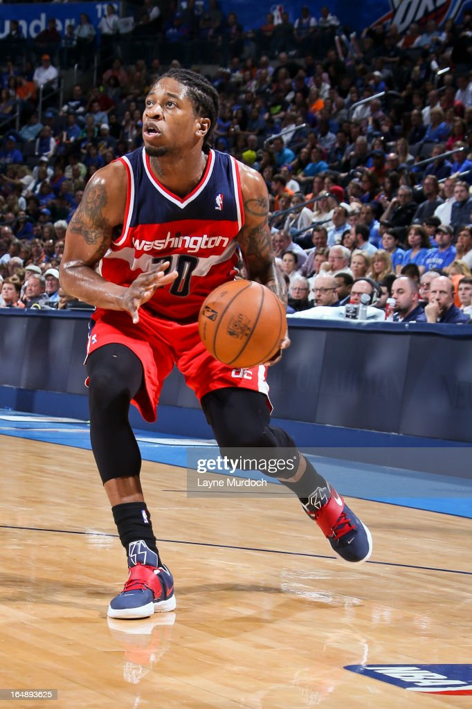 <a gi-track='captionPersonalityLinkClicked' href=/galleries/search?phrase=Cartier+Martin&family=editorial&specificpeople=834581 ng-click='$event.stopPropagation()'>Cartier Martin</a> #20 of the Washington Wizards squares to shoot against to the Oklahoma City Thunder on March 27, 2013 at the Chesapeake Energy Arena in Oklahoma City, Oklahoma.