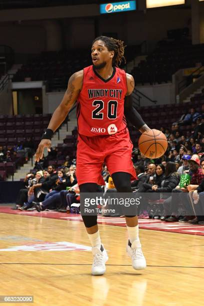 Cartier Martin of the Windy City Bulls dribbles the ball against the Raptors 905 on March 30 2017 in Mississauga Ontario Canada NOTE TO USER User...