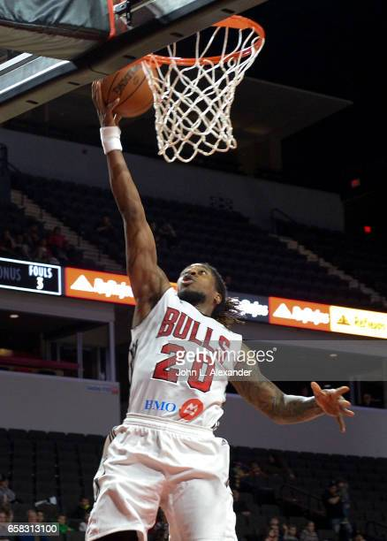 Cartier Martin of the Windy City Bulls drives to the basket for a lay up against the Iowa Energy on March 23 2017 at the Sears Centre Arena in...