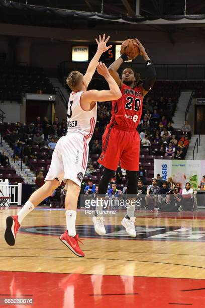 Cartier Martin of the Windy City Bulls shoots the ball against the Raptors 905 on March 30 2017 in Mississauga Ontario Canada NOTE TO USER User...