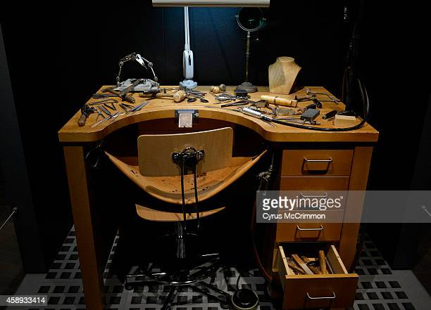 Cartier's jeweler's workshop desk is part of the Denver Art Museum's newest exhibition 'Brilliant Cartier in the 20th Century' on Thursday November...