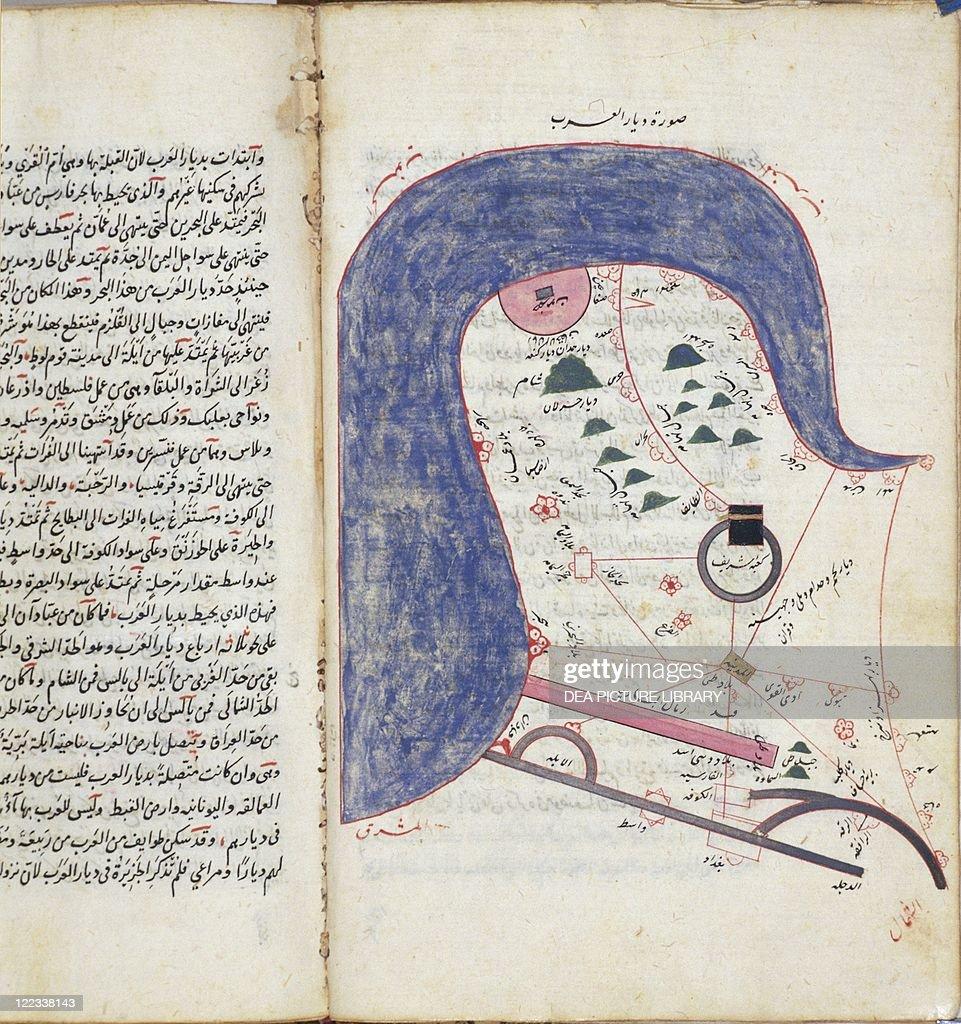 Map of Arabia from alKitab waal Masalik Mamalik Road and – Map of Arabia