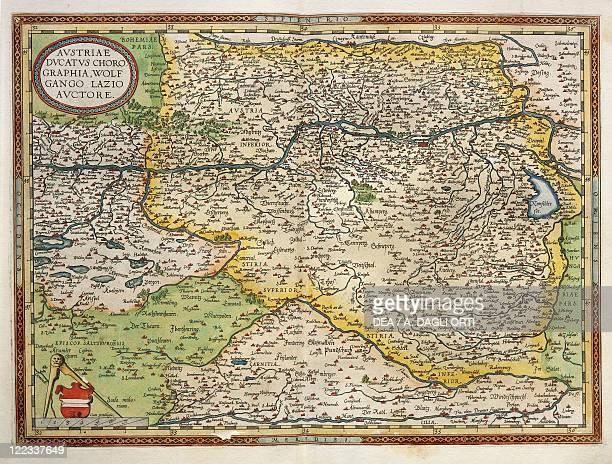 Cartography 16th century Map of Austria from Theatrum Orbis Terrarum by Abraham Ortelius Antwerp 1570