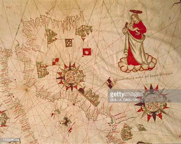 Cartography 16th century The Holy Land From the Portolano by Francesco Oliva 1566