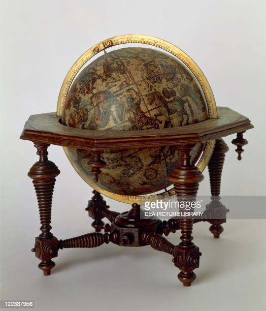 Cartography 17th century Celestial globe created by Vincenzo Coronelli 1693 Diameter 15 cm