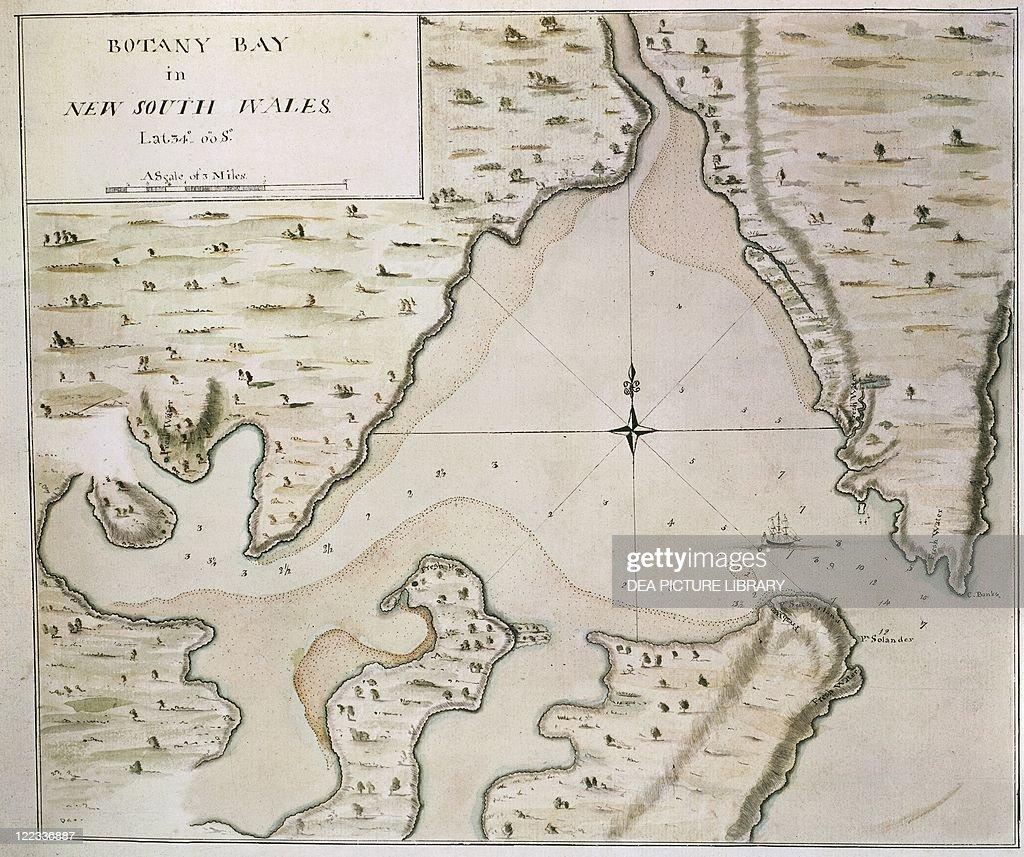 Map Of Botany Bay New South Wales Australia Pictures Getty Images - South wales australia map