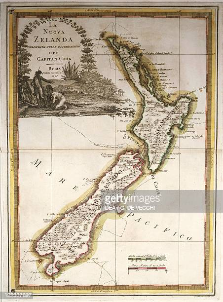 Cartography 18th century Map of New Zealand