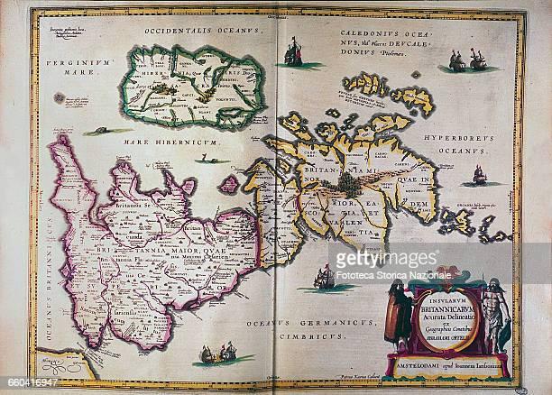 Cartography of Britain From 'Atlas Novus sive Descriptio Geographica Totius Orbis Terrarum tabulis Aeneis luculentissimis et accuratissimis exornata'...