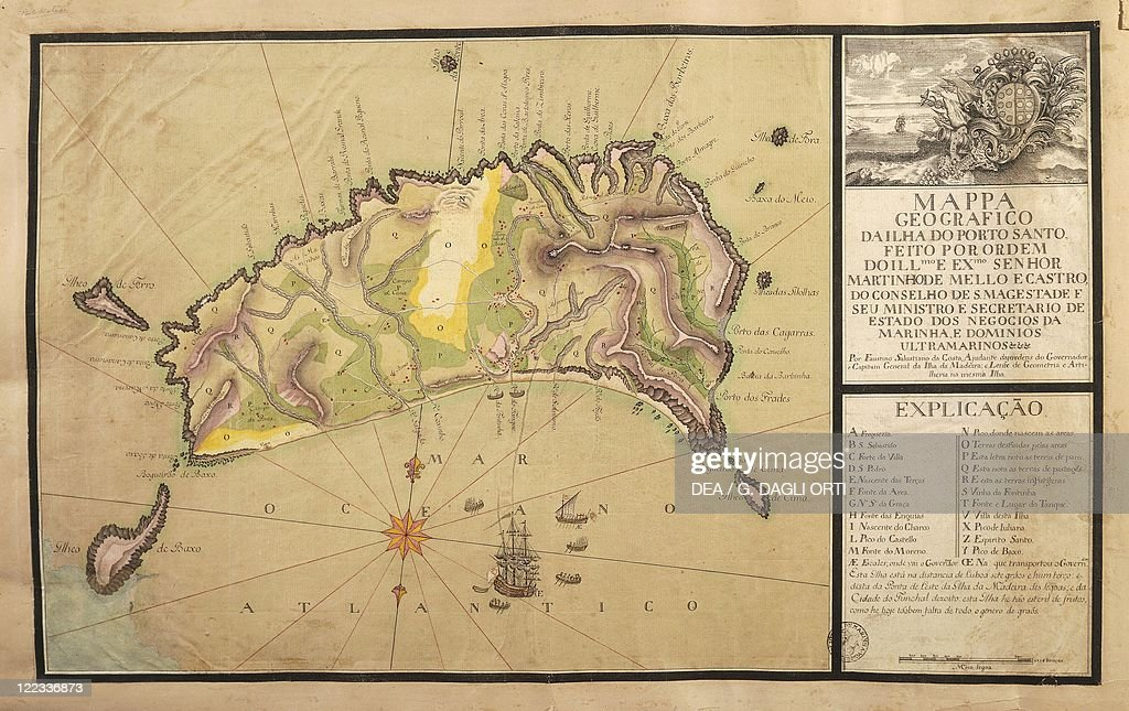 Map Of The Island Of Madeira Canary Islands Pictures Getty Images - Portugal map madeira