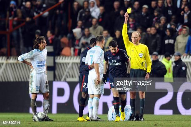 Carton Jaune Mateja KEZMAN PSG / Marseille 27eme journee de Ligue 1 Parc des Princes
