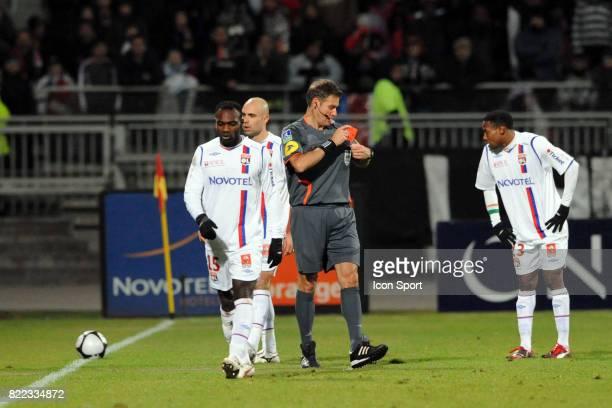 Carton rouge pour John MENSAH Lyon / Le Havre 24eme journee de Ligue 1