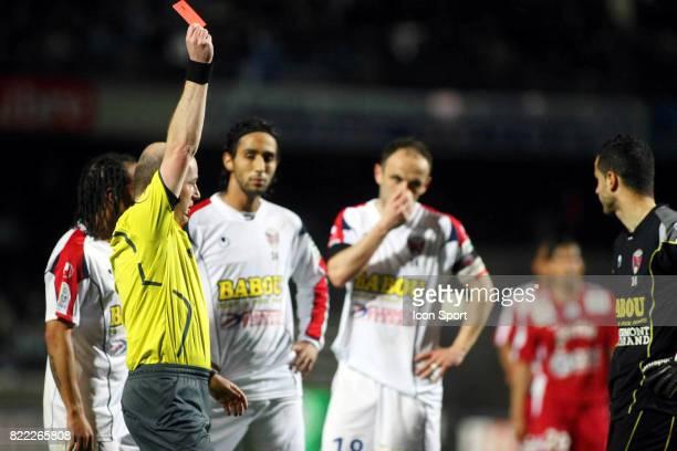 Carton Rouge pour le gardien de Clermont Michael FABRE Montpellier / Clermont 30e journee Ligue 2