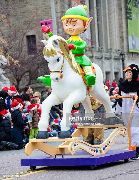 ROM TORONTO ONTARIO CANADA Cartoon character on horse in celebration of the 109th edition of the Santa Claus Parade More than a half million people...
