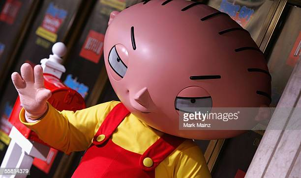 Cartoon character Stewie Griffin attends the DVD release premiere of 'Family Guy Presents Stewie Griffin The Untold Story' at Mann National Theatre...