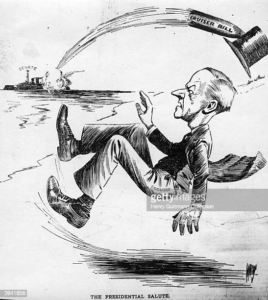 A cartoon depicting American President Calvin Coolidge