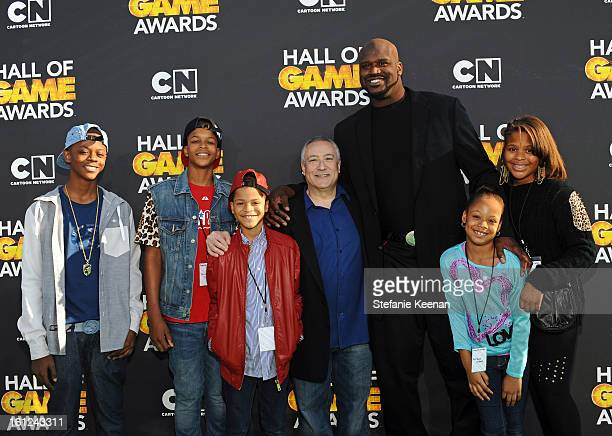 Cartoon Network President/COO Stuart Snyder host Shaquille O'Neal and family attend the Third Annual Hall of Game Awards hosted by Cartoon Network at...