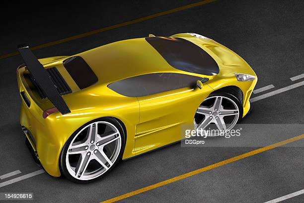Cartoon sports car