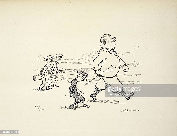 Cartoon with golfing theme c1900c1910