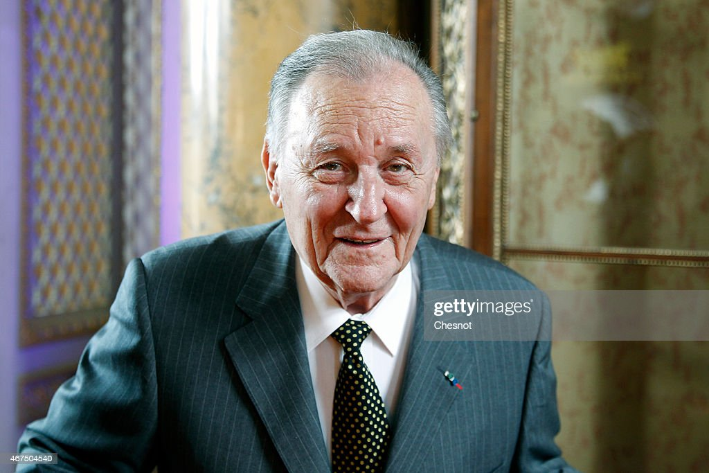 Cartoonist <a gi-track='captionPersonalityLinkClicked' href=/galleries/search?phrase=Albert+Uderzo&family=editorial&specificpeople=2121085 ng-click='$event.stopPropagation()'>Albert Uderzo</a> of France poses prior to a press conference at the Monnaie de Paris on March 25, 2015, in Paris, France. A new twelve piece coin series illustrated with Asterix entitled 'Asterix and the values of the Republic' was presented in Paris.
