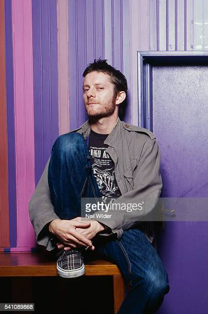 Cartoonist Jamie Hewlett of the virtual band Gorillaz