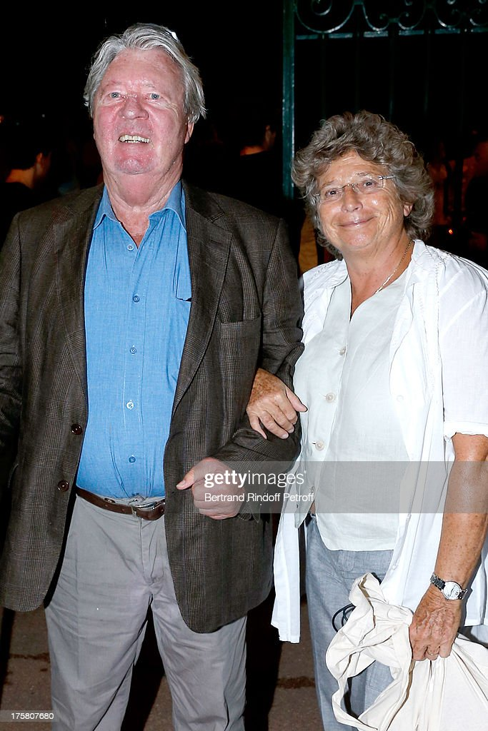 Cartoonist <a gi-track='captionPersonalityLinkClicked' href=/galleries/search?phrase=Jean-Jacques+Sempe&family=editorial&specificpeople=5779081 ng-click='$event.stopPropagation()'>Jean-Jacques Sempe</a> and President of Ramatuelle Festival Jacqueline Franjou attend 'La Contrebasse' play at 29th Ramatuelle Festival : Day 9 on August 8, 2013 in Ramatuelle, France.