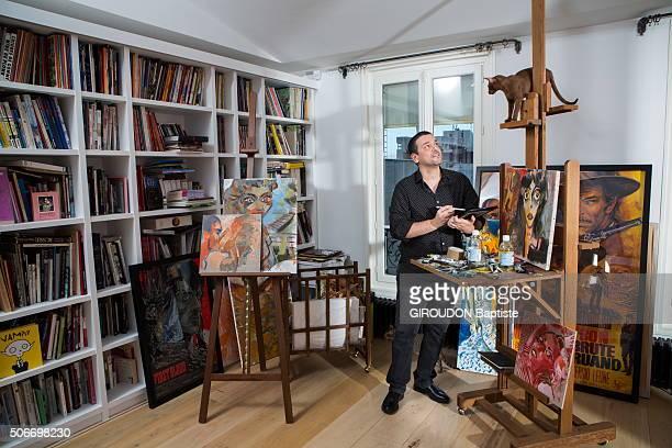 Cartoonist Joann Sfar poses at home on january 14 2016 in Paris France