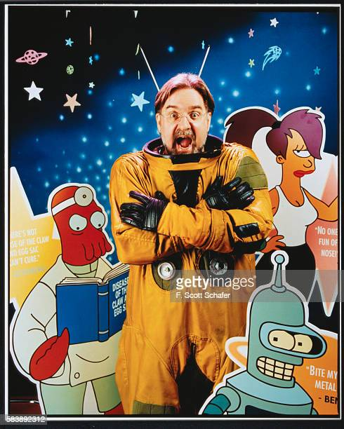 Cartoonist Matt Groening is photographed for Entertainment Weekly Magazine in 1999