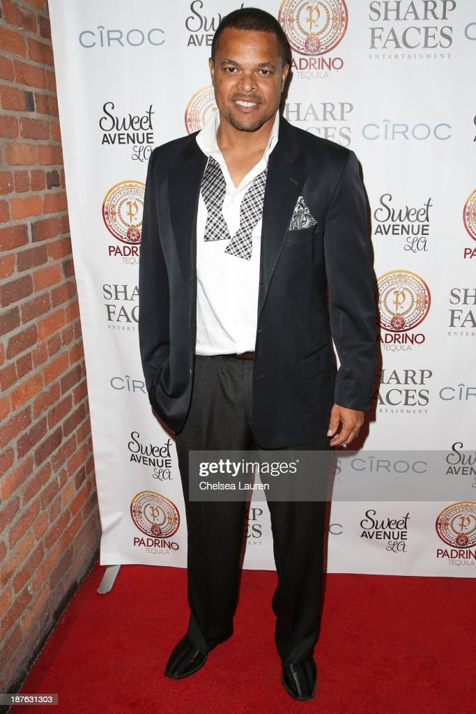 Cartoonist Robb Armstrong arrives at Tommy Davidson's birthday celebration at H.O.M.E. on November 10, 2013 in Beverly Hills, California.