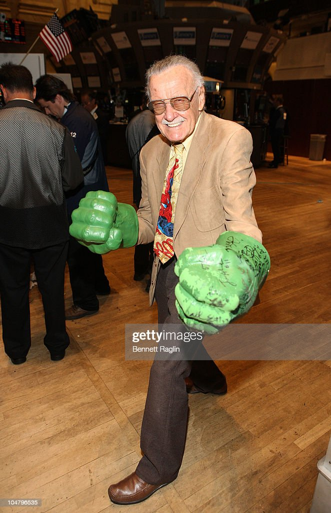 Stan Lee Visits The New York Stock Exchange - October 5, 2010