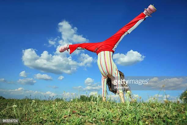 Cartwheel on meadow
