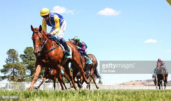 I Carus ridden by Clayton Douglas wins the Shire Hall Hotel SV Maiden Highweight at Ararat Racecourse on February 27 2017 in Ararat Australia