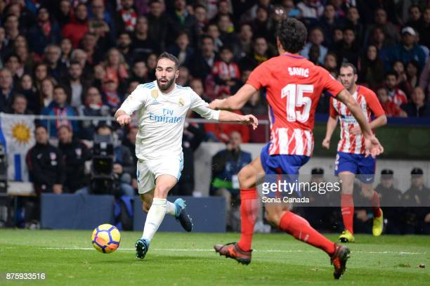 Carvajal #2 of Real Madrid during The La Liga match between Club Atletico Madrid v Real Madrid at Wanda Metropolitano on November 18 2017 in Madrid...
