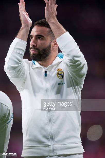 Carvajal during the match between Atletico de Madrid and Real Madrid week 12 of La Liga at Wanda Metropolitano stadium Madrid SPAIN 18th November of...