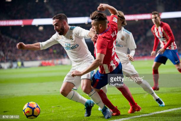 Carvajal Koke Modric during the match between Atletico de Madrid and Real Madrid week 12 of La Liga at Wanda Metropolitano stadium Madrid SPAIN 18th...