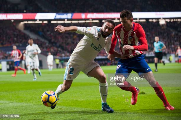 Carvajal Lucas during the match between Atletico de Madrid and Real Madrid week 12 of La Liga at Wanda Metropolitano stadium Madrid SPAIN 18th...