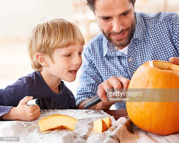 Carve it dad!