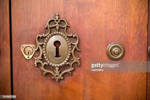 Carved key hole