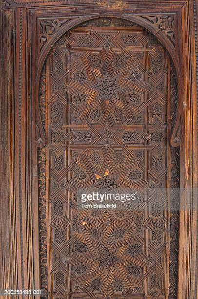 Carved modern screen, Bou Inania Medersa, Fez, Morocco