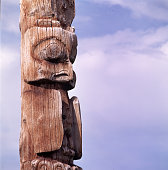 Carved Owl on Totem Pole, Canada