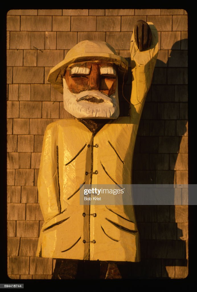 Carved Sea Captain in a Yellow Jacket
