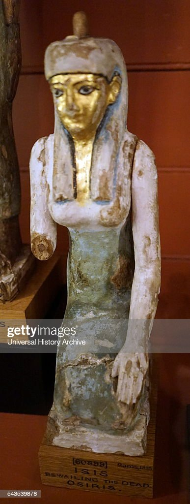 Carved statuette of Isis Goddess of health marriage and wisdom Dated 3rd Century BC