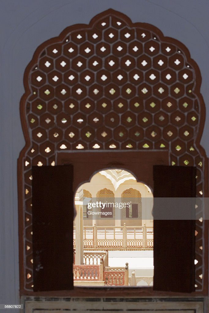 Carved window in a palace, City Palace Complex, City Palace, Jaipur, Rajasthan, India
