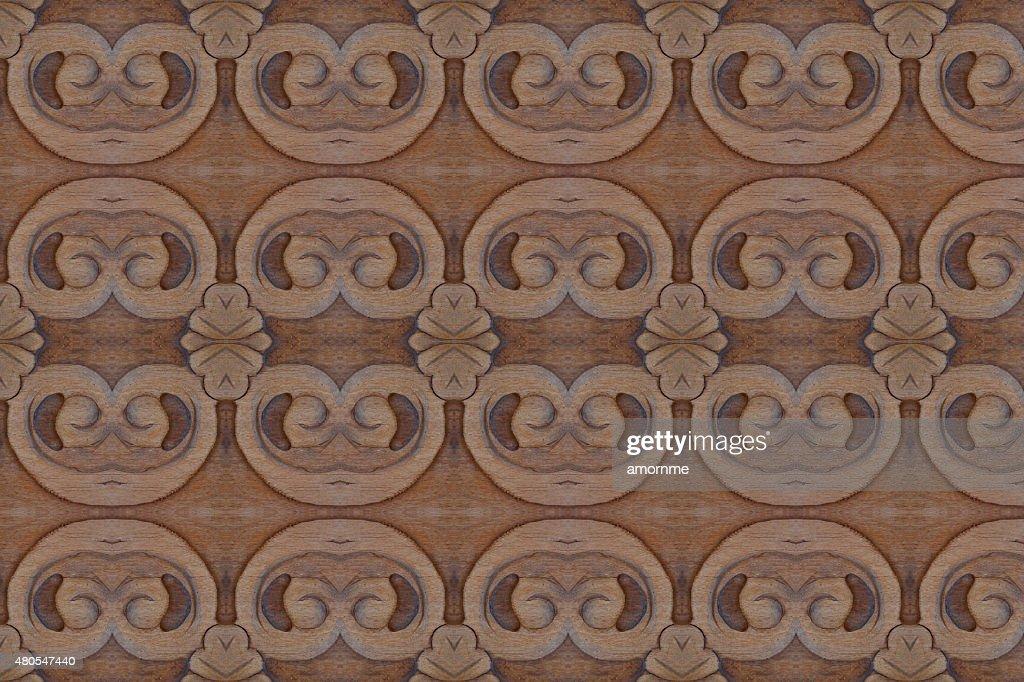 Geschnitzte Holz Wand in der Nähe : Stock-Foto