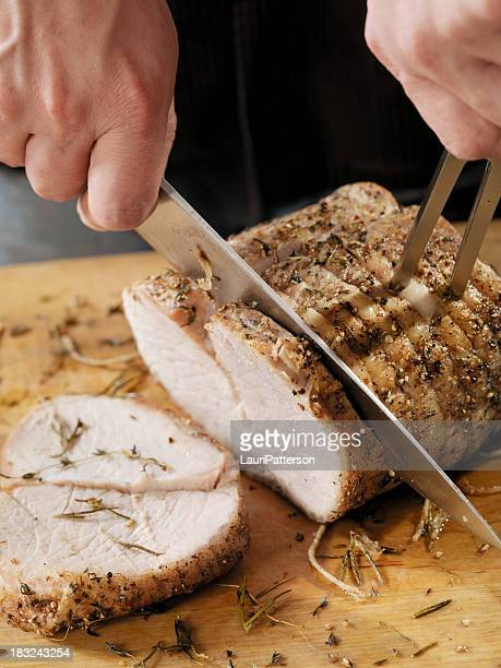 Carving a Pork Roast