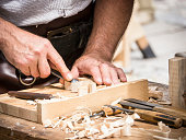 carving wood at a festival in mittenwald - germany