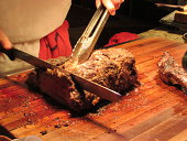 you can taste the juice prime rib carved at the carving station by the chef