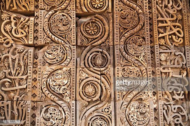 Carving work over stone