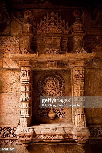 Carvings at Adalaj Wav Step Well