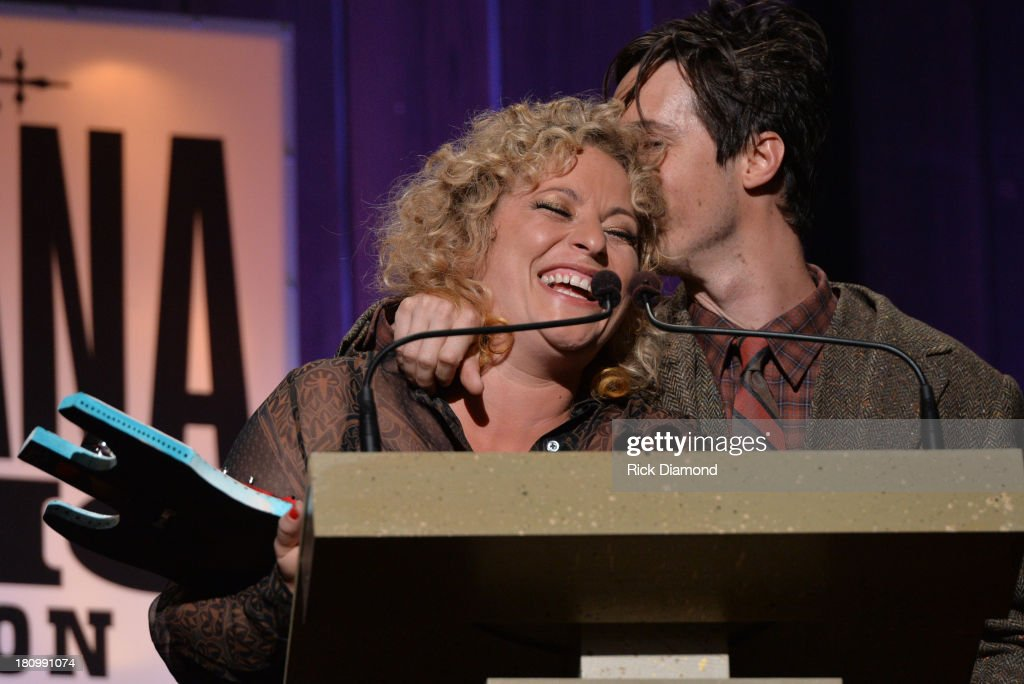 Cary Ann Hearst and Michael Trent of Shovels and Rope accept the Song of the Year Award at the 12th Annual Americana Music Honors And Awards Ceremony Presented By Nissan on September 18, 2013 in Nashville, Tennessee.